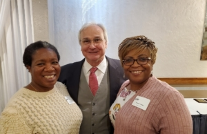 As a Community Investor in the Niles Chamber of Commerce, Woodward is an active participant in its local community. Pictured with the Mayor of Niles, Andrew Przbylo are Venetia Valley and Talaya Johnson, Woodward Niles members attended the 7th Annual Leadership Luncheon hosted by the Niles Chamber of Commerce and Industry.