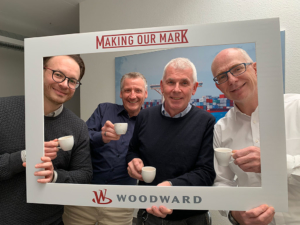 Congratulations to the 150th anniversary. Marc, Arnd, Stefan and Stephan from Woodward L'Orange